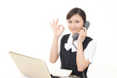 Working Asian business woman Royalty Free Stock Images