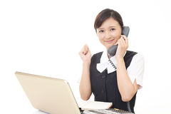 Working Asian business woman Stock Image