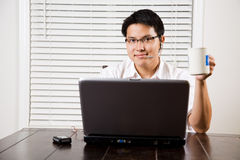 Working asian entrepreneur Royalty Free Stock Photos