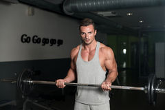 Working The Barbell Stock Images