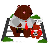 Working Bear. A bear that goes to work Royalty Free Stock Images