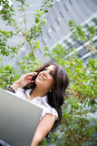 Working beautiful hispanic businesswoman Stock Image