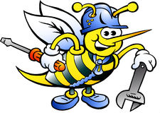 Working Bee Holding Wrench and Driver Stock Photography