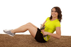 Working belly weights Stock Photography