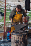 Working blacksmith Royalty Free Stock Image
