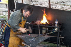 Working blacksmith Royalty Free Stock Photography
