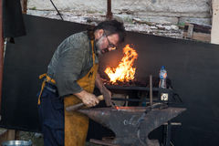 Working blacksmith Royalty Free Stock Images