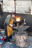 Working blacksmith Stock Photo