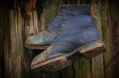 Working boots. Royalty Free Stock Photography