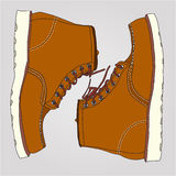 Working boots pair royalty free illustration