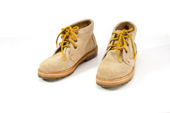 Working boots on white background Stock Images
