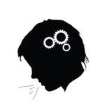 Working brain illustration Stock Photos