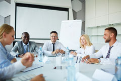 Working at briefing Royalty Free Stock Photos