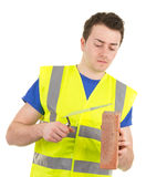 Working builder Stock Photos