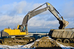 Working bulldozer Stock Photos