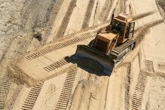 Working bulldozer Stock Photography