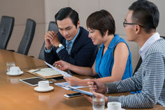 Working with business document Stock Photos