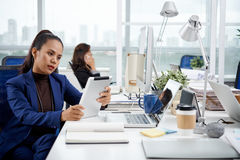 Working business lady stock images