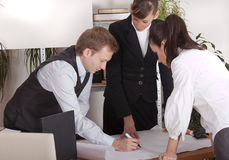 Working on business plan Stock Image