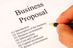 Working on the business proposal royalty free stock photos