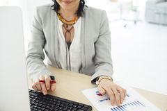 Working business woman in the office Royalty Free Stock Photography