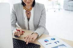 Working business woman in the office Stock Image