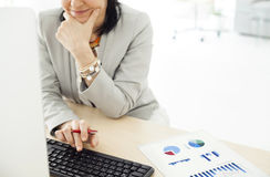 Working business woman in the office Stock Images