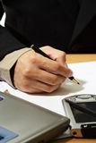 Working businessman Royalty Free Stock Images
