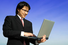 Working businessman Stock Images