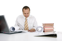 Working businessman Royalty Free Stock Image