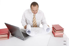 Working businessman Royalty Free Stock Photos