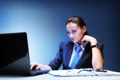 Working businesswoman Stock Image