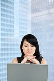 Working businesswoman Stock Images