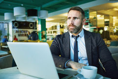 Working in café Royalty Free Stock Photos