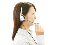 Working call center operator Stock Photography