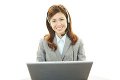 Working call center operator Royalty Free Stock Photos