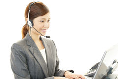 Working call center operator Stock Images