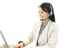 Working call center operator Royalty Free Stock Photography