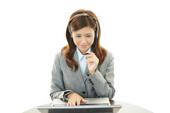 Working call center operator Royalty Free Stock Photo