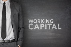 Working capital on blackboard Royalty Free Stock Photo