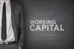 Working capital on blackboard Royalty Free Stock Photo