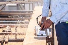 Working carpenter Stock Photo
