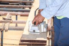 Working carpenter Royalty Free Stock Image