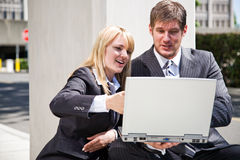 Working caucasian business people Royalty Free Stock Photos