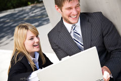 Working caucasian business people Stock Photos