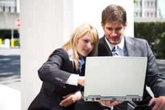 Working caucasian business people Stock Photography