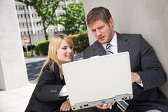 Working caucasian business people Stock Photo