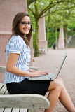 Working caucasian businesswoman Stock Image