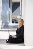 Working caucasian businesswoman Stock Photos