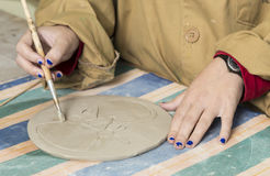 Working ceramics Royalty Free Stock Photos